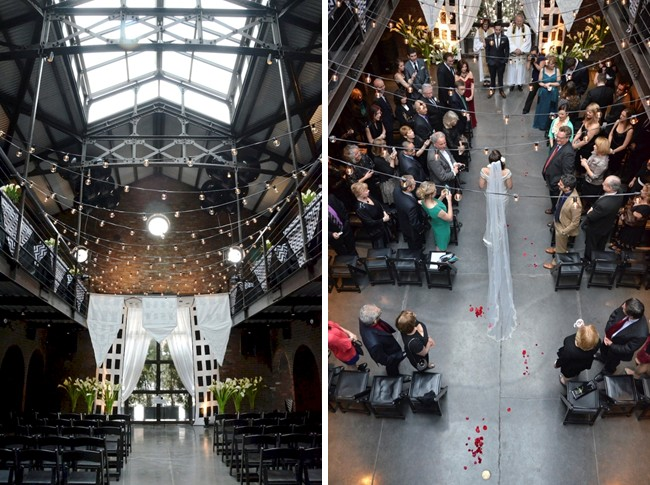 Art Deco wedding ceremony at the Foundry in New York