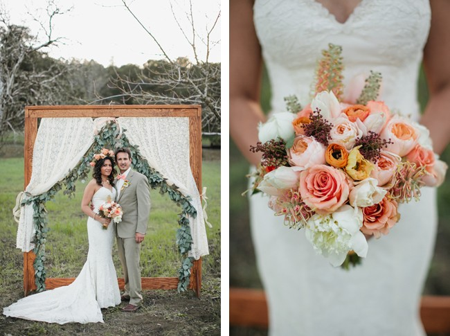 ceremony for outdoor styled shoot