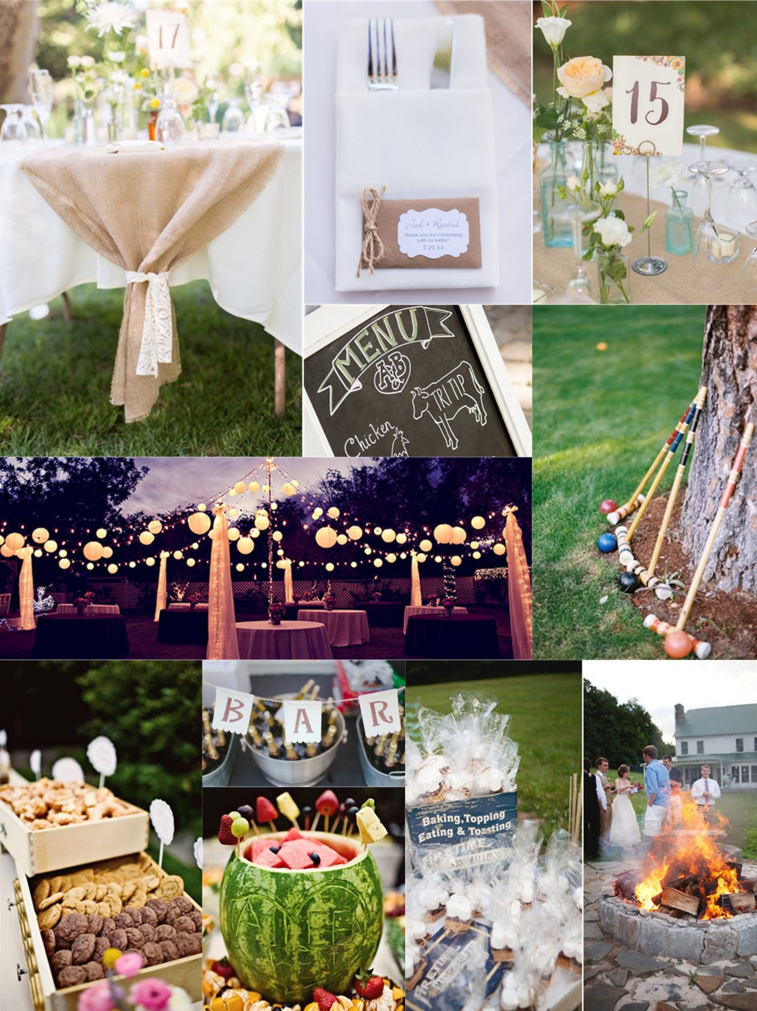 Essential guide to a backyard wedding on a budget for Outdoor wedding decorations on a budget