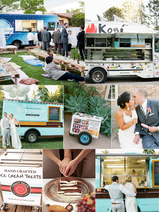 Wedding reception food trucks