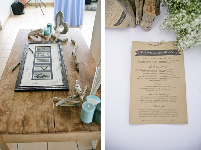 Wedding guest book and ceremony program