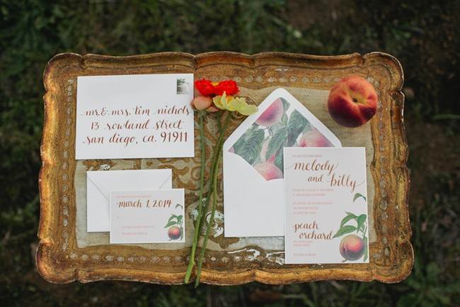 Wedding invitations for james and the giant peach styled shoot