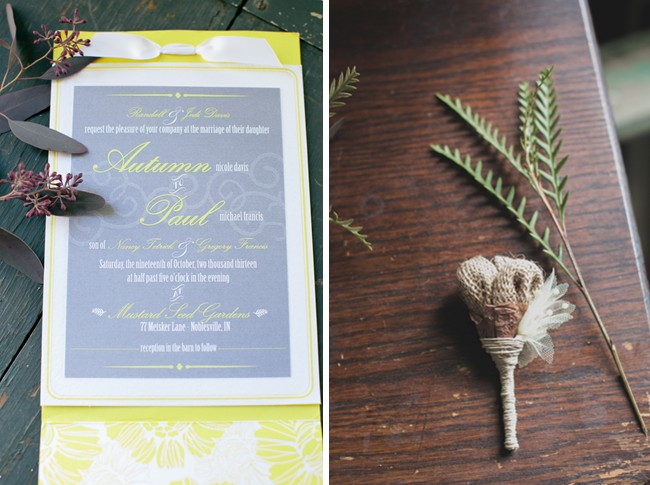 Rustic Country Barn Wedding invitation