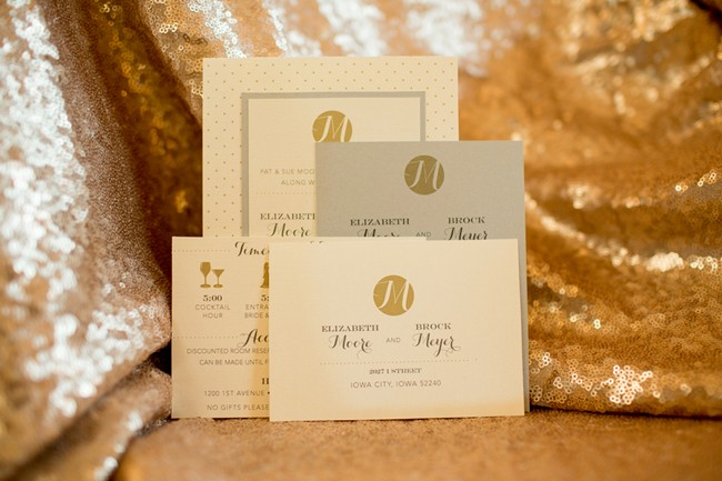 Intimate Sparkly Wedding