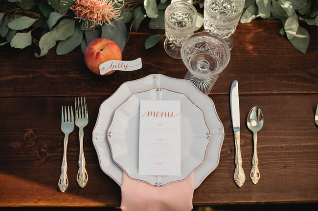 james and the giant peach styled shoot menu