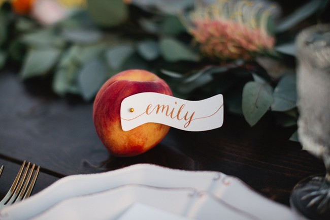 real peach name tag