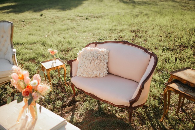 seating area for styled shoot