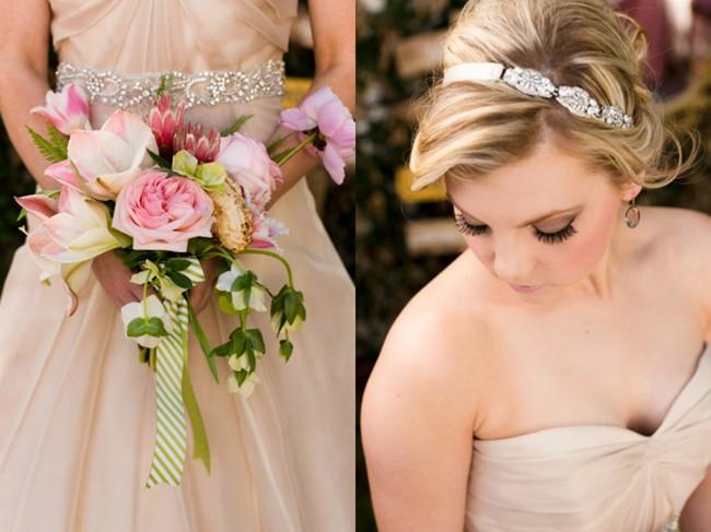 protea, hellebores, ferns bouquet