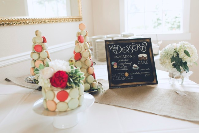 Reception dessert chalkboard sign