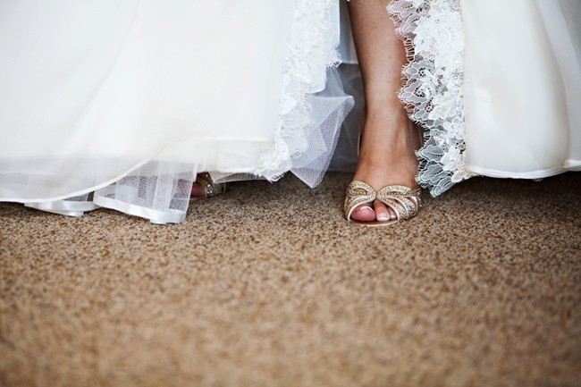brides foot with rhinestone high heel