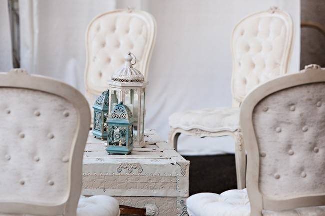 Vintage seating with lanterns