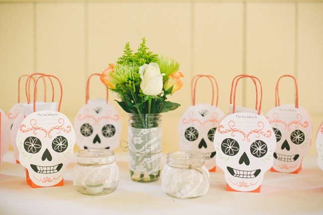 day of the dead skull favor bags