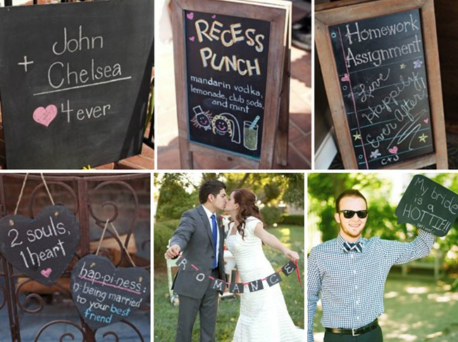 Cute Wedding chalkboard sign ideas for photos