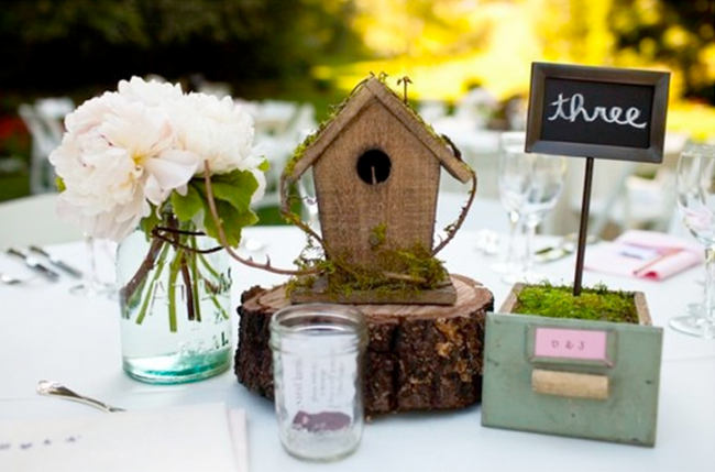small wooden frame with chalkboard sign for wedding reception Table number for rustic wedding