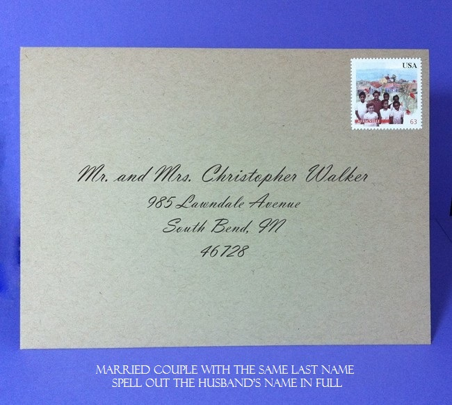 married couple1 - Addressing Wedding Invitations Etiquette