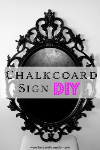 Ornate IKEA chalkboard frame DIY