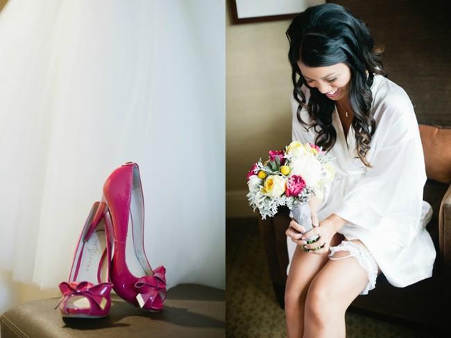 fusia bridal shoes