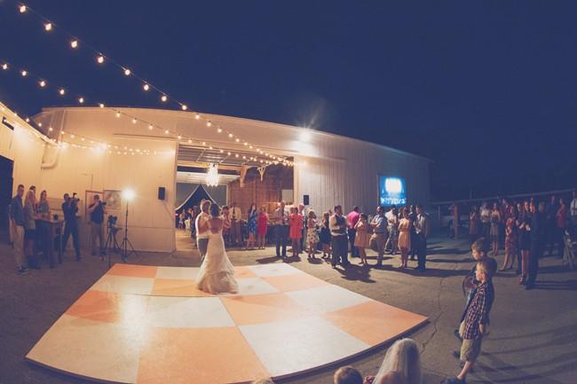 dance floor wedding reception
