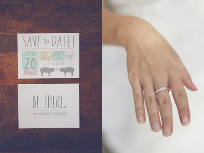 save the date with a pig theme