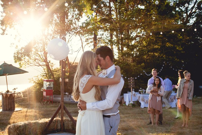 Bride and grooms first dance  captured by aubrey joy photography