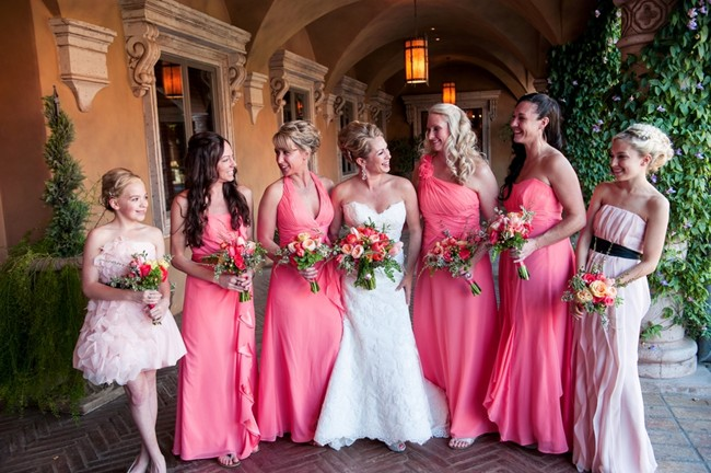 Bride with bridal party at Villa Siera Arizona