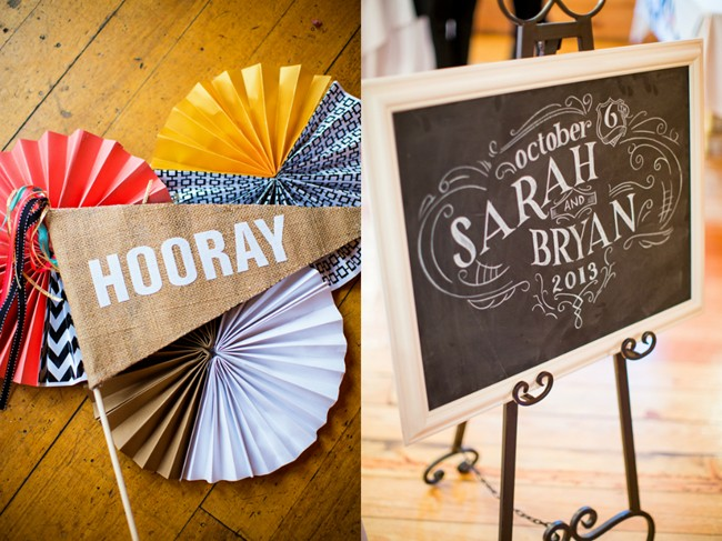 Chalk board wedding welcome