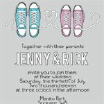 Converse Wedding Invitation