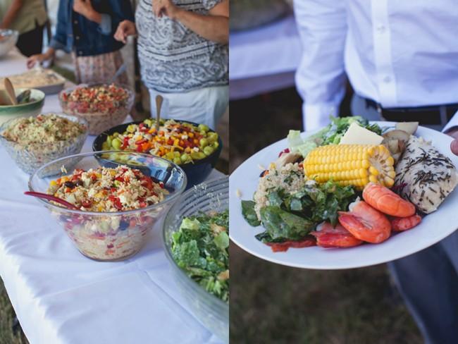 Outdoor wedding reception dinner  captured by aubrey joy photography