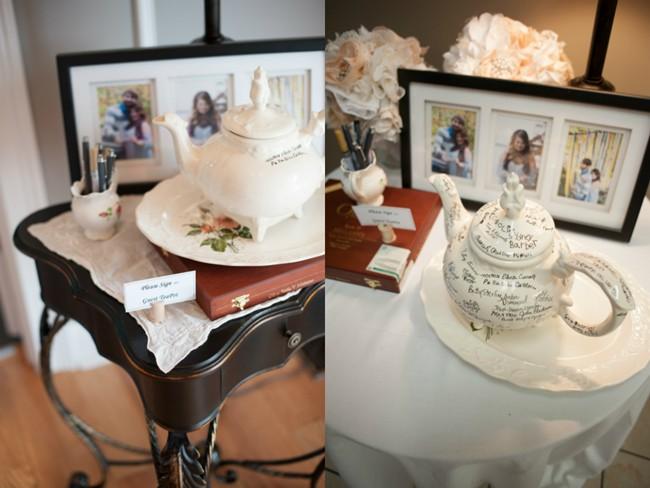 Tea pot Wedding guest book