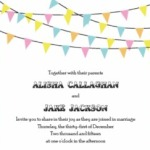 Bunting Banner Invitation Suite