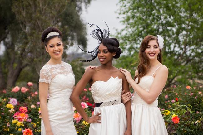 models wearing  Iselle Design Studio in balboa park