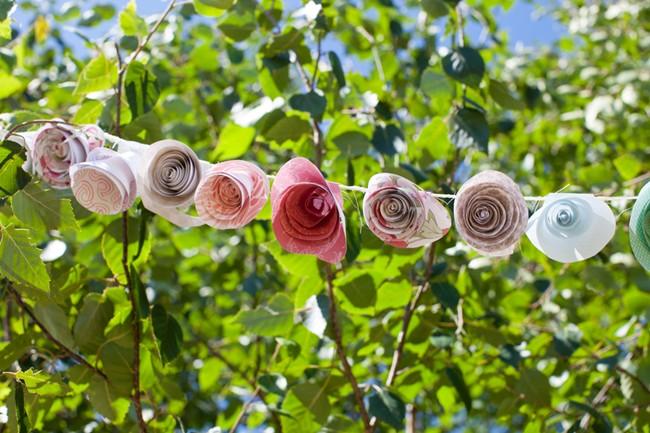 paper flower garland  captured by aubrey joy photography
