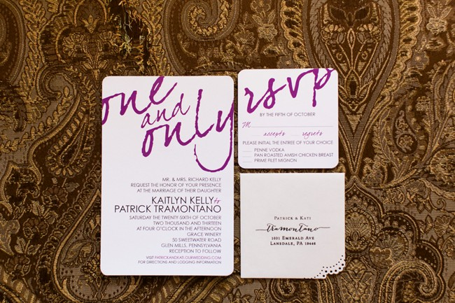 purple font Wedding Invitations