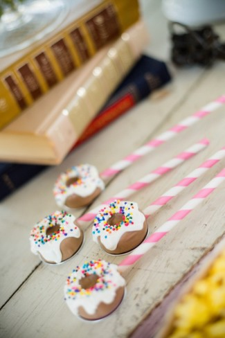 mini donuts with sprinkles on top