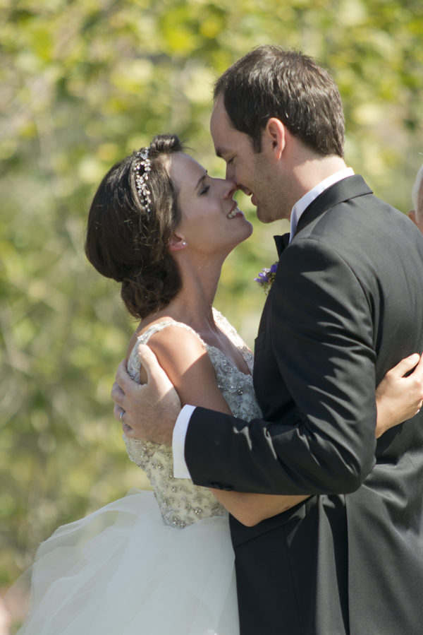 18 bride and groom first kiss during ceremony