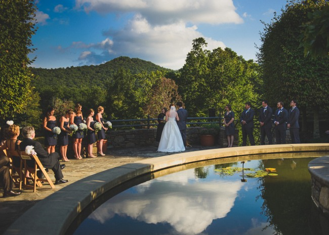 Wedding ceremony at North Carolina Arboretum