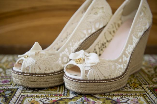 8Tori birch white wedge bridal shoes