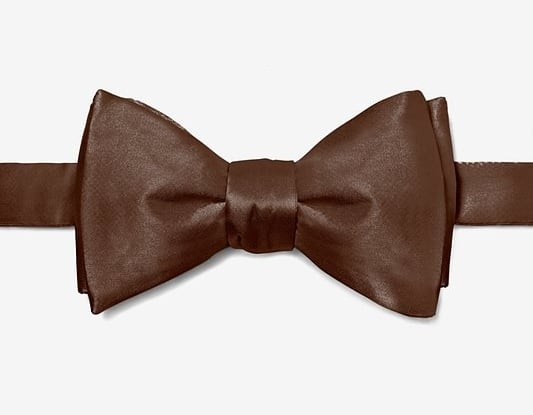 Chocolate brow bow tie