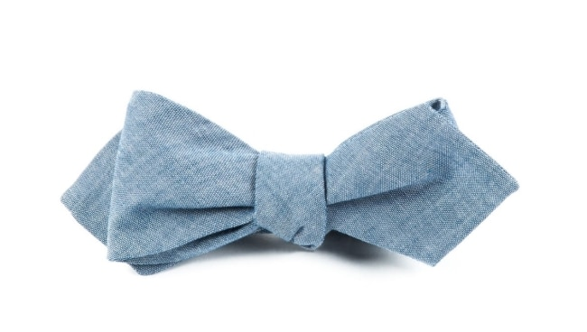 Diamond Tip shaped Bow Tie example