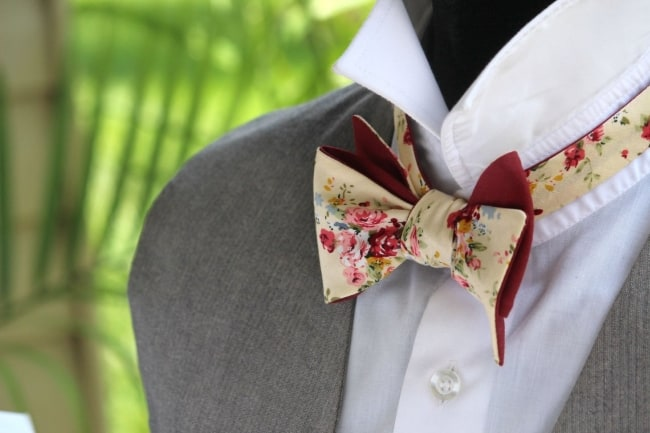 Groom's Reversible Bow Tie