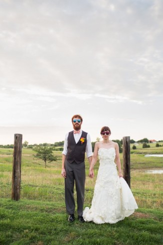 styled couple in sunglasses