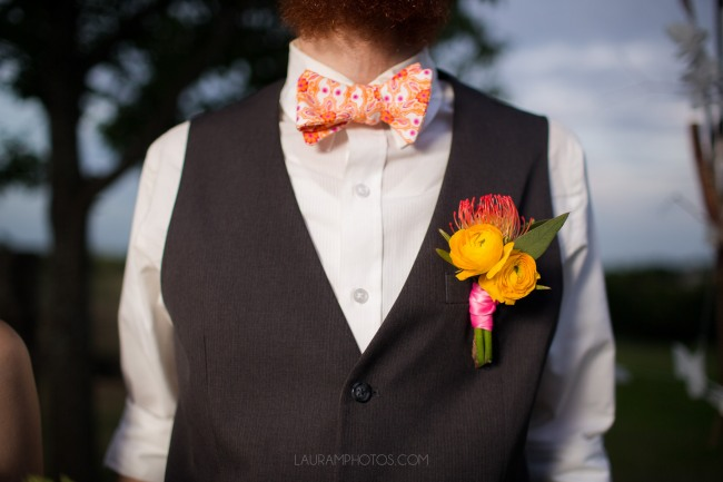 styled groom in bow tie