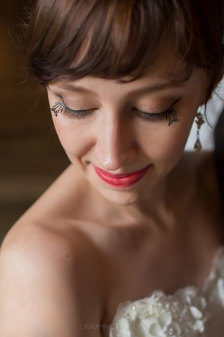 bride with long lashes