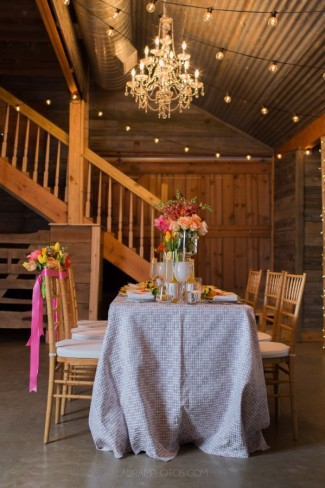 barn setting at Rustic Grace Estate