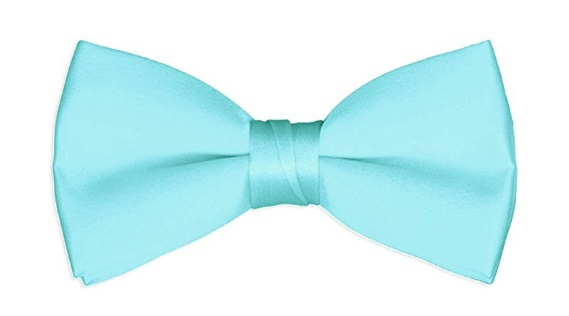 Men's aqua colored Bow tie