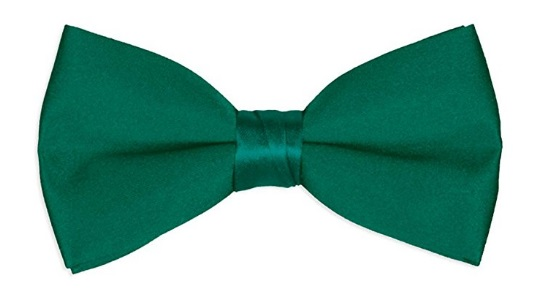 Men's green Bow tie