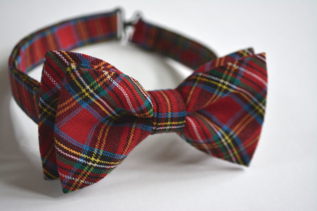 Men's Plaid Bow Tie