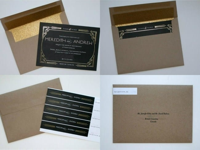 Minted Wedding Invitation and envelope