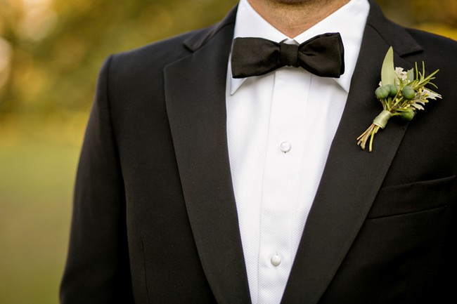 Wedding bow tie ideas - classic black