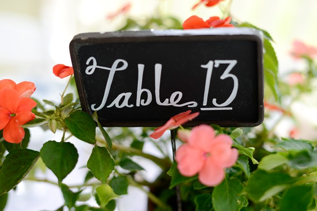 Reception table number 13